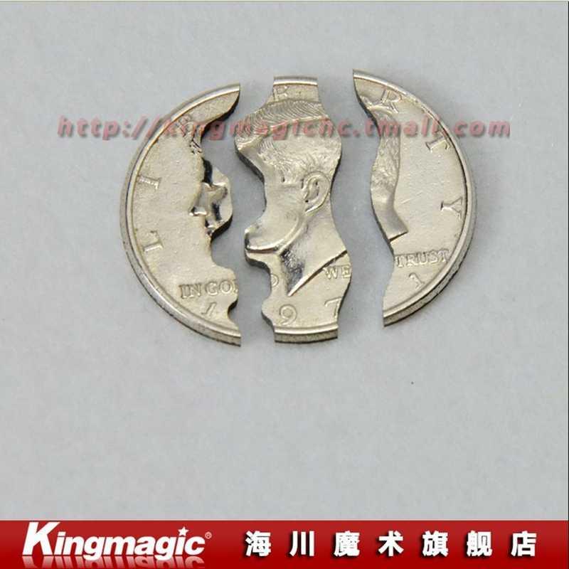 Монета в пивной бутылке два складной укус Монеты монета долларовая версия Волшебные трюки реквизит волшебные игрушки