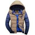 DIMUSI Зимняя Куртка Мужчины Теплый хлопок пальто мужские случайные капюшоном куртки Красивый верхняя одежда thicking Куртка Плюс размер XXXL Пальто, YA182