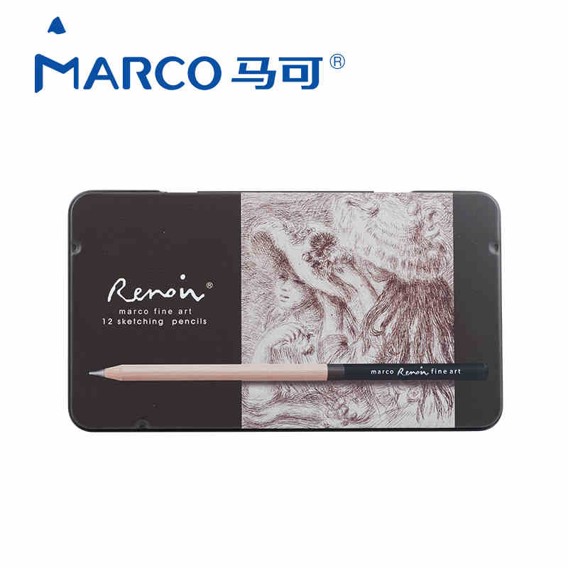 Marco 12CB 2H-8B Sketch Pencils Drawing Sketching Pencil Set For School Student Sketch Gift Stationery Art Supplies lapis de cor marco 12cb 2h 8b sketch pencils drawing sketching pencil set for school student sketch gift stationery art supplies lapis de cor