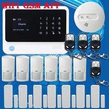 Бесплатная Доставка! G90B WI-FI GSM Главная Охранной Сигнализации + Датчик Движения + НОВЫЙ Детектор Дыма или Беспроводной Голубая Вспышка сирена Для Безопасности