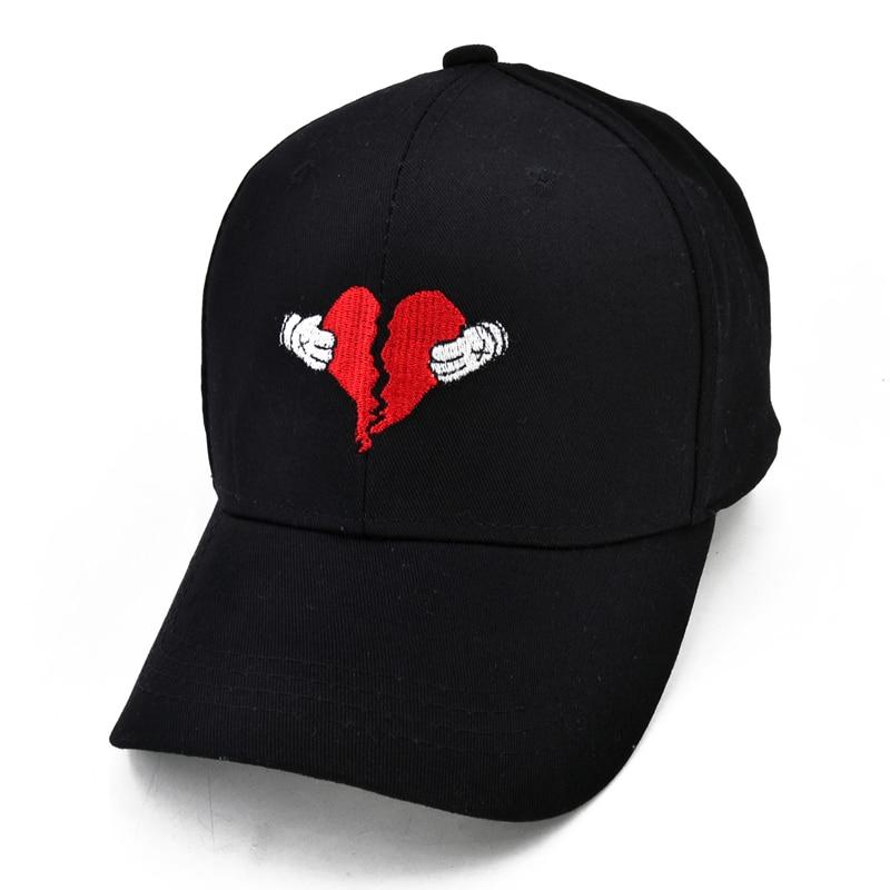 abf90c8735e Kanye West HeartBreak Album Cap Dad Hat Snapback Kanye Fashion King For Men  Women Cotton Baseball