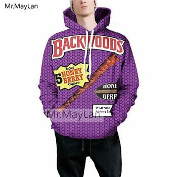 587edd3d7e58 Letters Backwoods Honey Berry Cigars 3D Print Fashion Hoodies Unisex Casual Hooded  Sweatshirts sudadera hombre Drop shipping 5XL