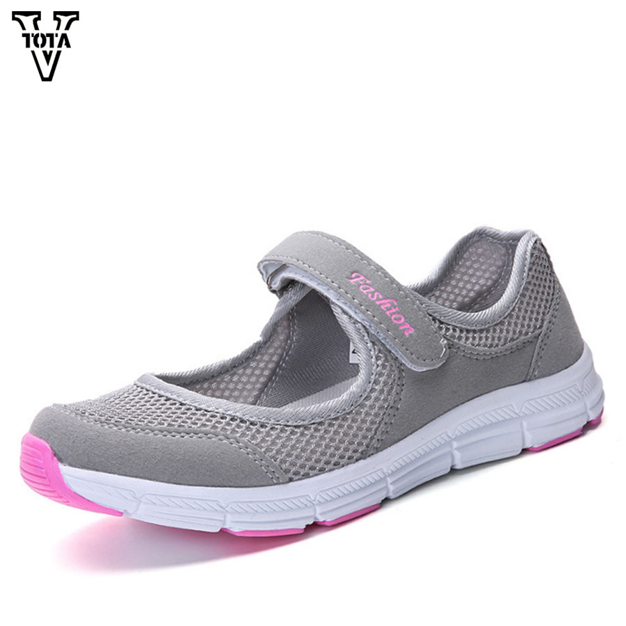 VTOTA Summer Women Shoes Air Mesh Shoes Woman Soft Sneakers Spring Female Leisure Loafers Ladies Casual Shoes Zapatos Mujer JX
