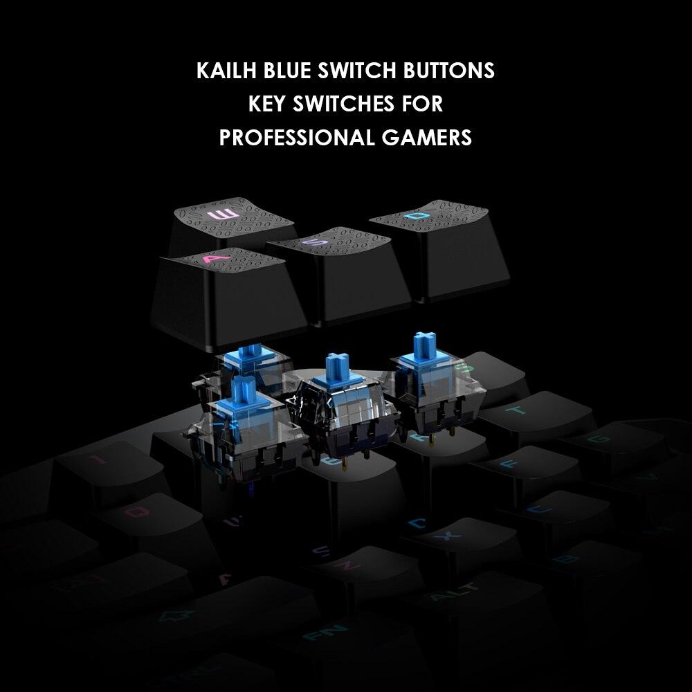 Motospeed CK108 игровая механическая клавиатура 104 клавиш с опора для рук USB Проводная антипривидная RGB подсветка светодиодный клавиатура для ПК иг... - 4