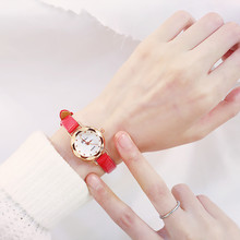 Thin belt small watch female small dial literary retro student simple Korean version of the mini compact cute junior high school