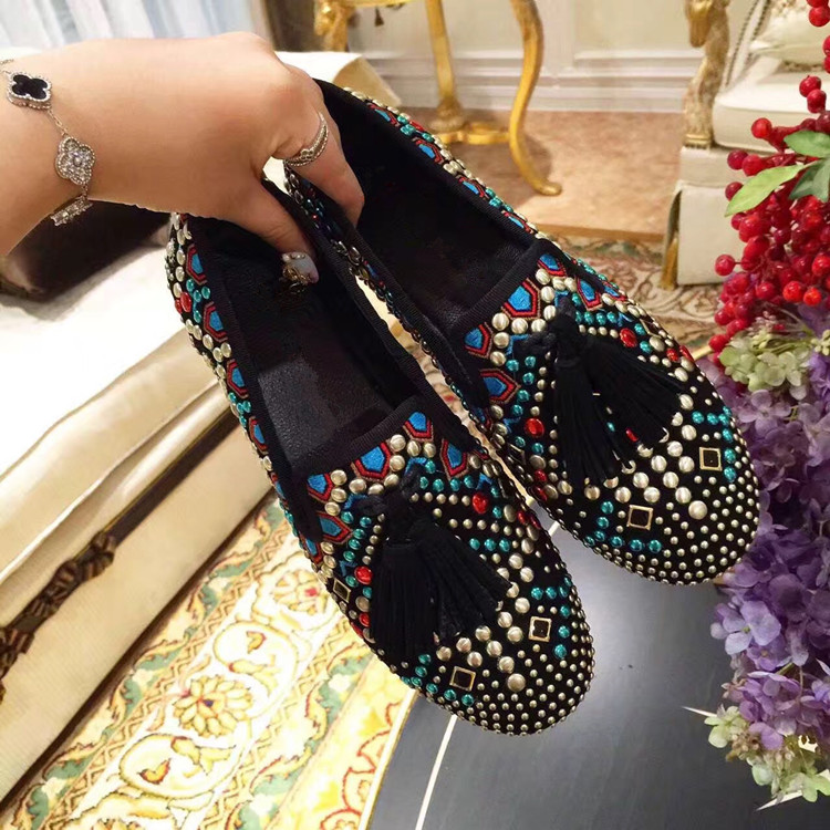 Hot Chaussures Casual Appartements Confortables As Mode Dames Fringe Mujer Mixte Sapato Nouveaux Rivets Zapatos Sneakers Couleur Show Femmes Feminino pwvadax0q