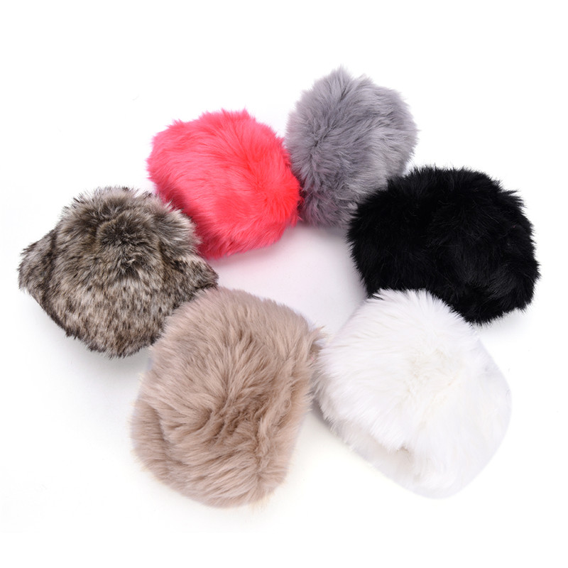 Women Winter Wrist Warmer Oversleeve Faux Fur Windproof Arm Bracelet Wristbands Arm Sleeves