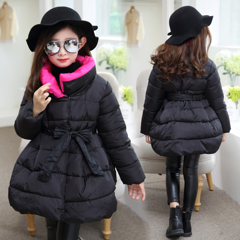 Child Jacket Girl Spring Jackets for Girls Winter Coat Fashion Children Clothing Kids Hooded Coat Thicken Cotton-padded Jacket winter jacket men warm coat mens casual hooded cotton jackets brand new handsome outwear padded parka plus size xxxl y1105 142f
