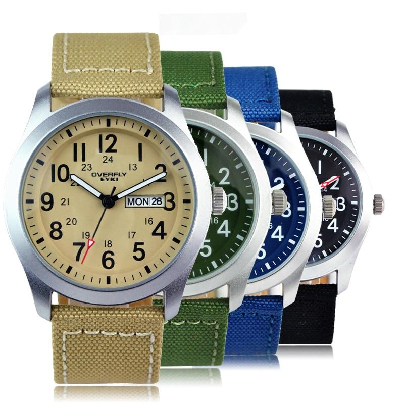 New 2017 EYKI reloj hombre Top Brand Luxury Wristwatch Mens Fashion Leisure Nylon Straps Wristwatch Numeral