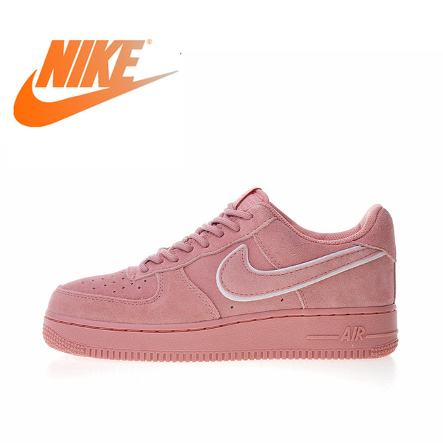 hot sale online 6c418 f384e Original Authentic Nike Air Force 1 07 LV8 Suede Women s Skateboarding Shoes  Sneakers Designer 2018 New Arrival AA1117-601