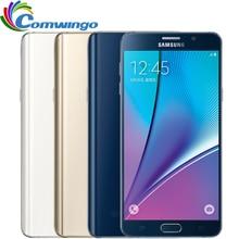 Оригинальный Samsung galaxy Note 5 N920A N920P N920V 4 ГБ RAM 32 ГБ ROM 4 Г LTE Смартфон 5.7 «Octa Ядро 16MP Одноместный SIM note5 телефон