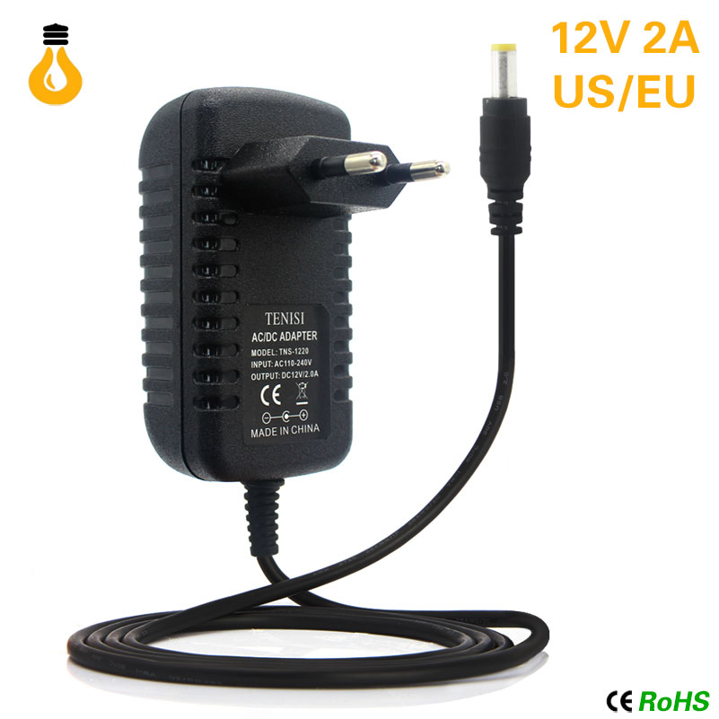 12V Charger 2A 24W lighting Transformers 100V -265V AC to DC12V Switch Power Supply Adapter Converter For RGB LED Strip Driver