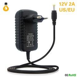 12V зарядное устройство 2A 24W Трансформаторы освещения 100 V-265 V AC to DC12V переключатель питания адаптер конвертер для RGB светодиодные ленты Драйве...