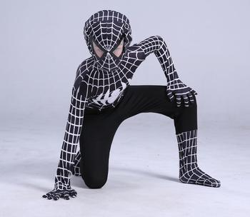 2019 Человек-паук костюм Человека-паука маскарадный костюм для взрослых и детей костюм на Хэллоуин красный черный спандекс косплей одежда