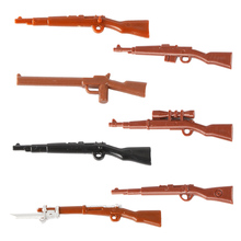 Wholesale WW2 Army Figures Weapons Pack Building Blocks Military Soldiers Gun Accessories Blocks Brick Toy City heavy machine guns diy military weapons bazooka soldiers army model building block brick arms ww2 police legoed toy for children
