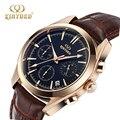 Top marca relógios de Quartzo Business Casual couro strap homens relógio de Luz Noturna presente Relogio dos homens