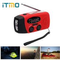 ITimo 3 en 1 Cargador de Emergencia Generador de Manivela LED Linterna FM/AM Radio Teléfono Cargadores Wind/Solar/Dynamo Powered Venta Caliente