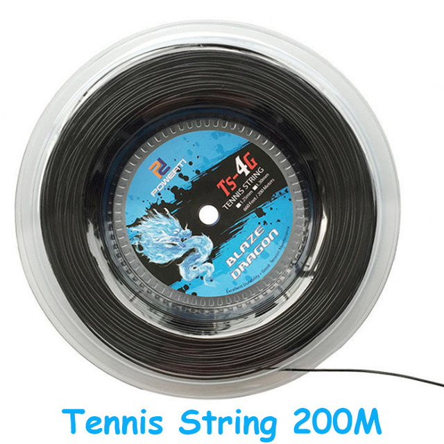 Tennis String 4G Polyester Durable 1.30mm/1.25mm Black Strings 200m Badminton Net Tenis Accessories For Racket Sports