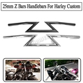"1"" 25MM Motorcycle Universal Drag Handlebars Z Bars For Harley Cruiser Custom Touring for CHOPPER BOBBER Grips"