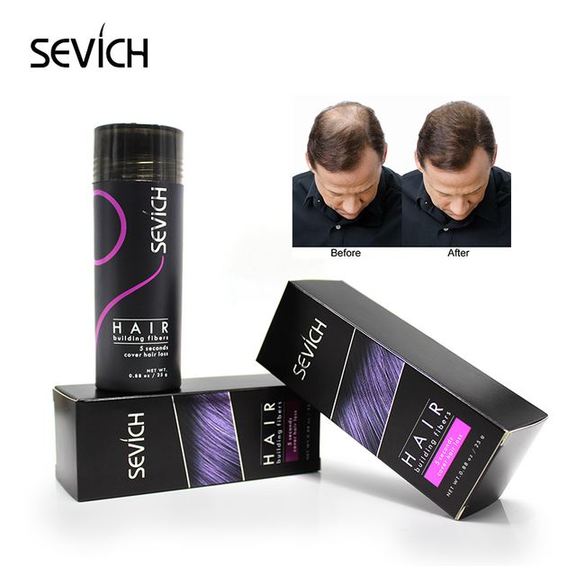 Sevich 25g queratina hair building fibra Espessamento pó para cuidados com o produto do crescimento do cabelo da perda de cabelo spray de cabelo Peruca Instantânea rebrota