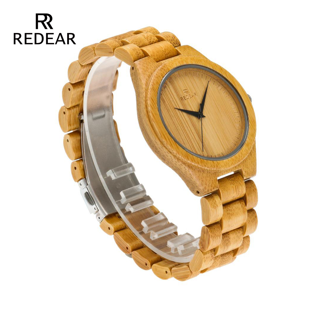 REDEAR Bamboo Lover's Watches Timepieces Wood Band Quartz Polshorloge - Dameshorloges - Foto 3