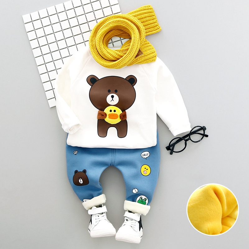 Boys Outfits T-Shirt Suit Clothing Pants-Sets Autumn-Style Baby-Boys-Girls Casual 2pieces