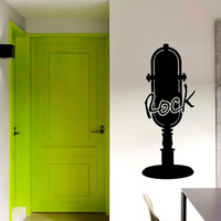 Rock Microphone Wall Stickers Creative Infinite Home Decor DIY Vinyl Removable Adhesive Wall Decals Living Room