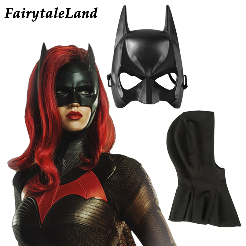 TV Batwoman Cosplay Headwear Props Catherine Hamilton Kate Kane Costume Accessory Superhero Outfit Cosplay Accessories Mask Hood