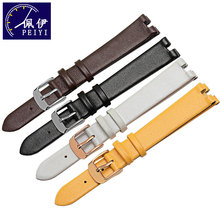 Watch-Chain Leather Strap Fiyta Ultra-Thin for L590gwwd/L586/588 Concave-Interface Wristband-Color