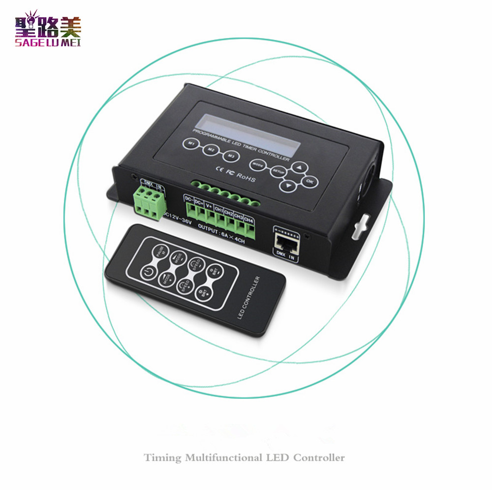 BC-300 DC12V-36V Time programmable led dimmer RGB RGBW Strip Light Controller programmable Timer Light DMX 512 ControllerBC-300 DC12V-36V Time programmable led dimmer RGB RGBW Strip Light Controller programmable Timer Light DMX 512 Controller