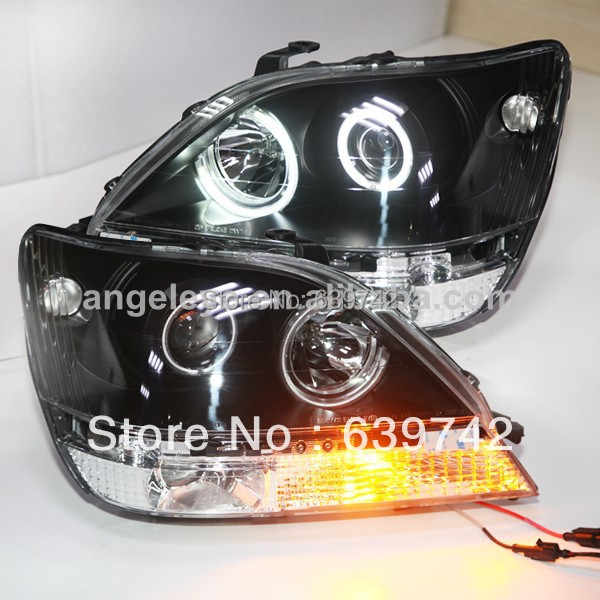 1998-2002 an pour Lexus RX300 Herrier Kluger Angel Eyes LED lampe frontale