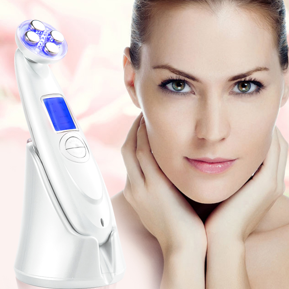 Beauty Face SPA Makeup LED Wrinkle Massager Anti-aging Makeup Machine Face Care Massageador Equipment