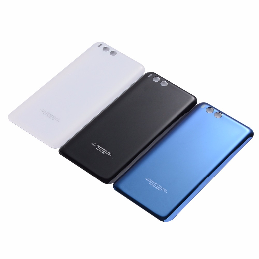 New Housing Glass Battery Back cover For Xiaomi 6 Mi 6 Mi6 Black White Blue Replacement