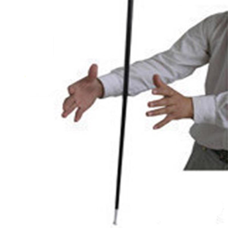 Aluminum Dancing Cane Stick (Silver/Black) Magic Trick Floating Magic Wand Close Up Street Stage Magic Props Accessories