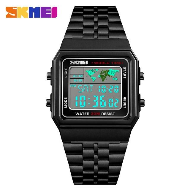 f8c96e789 Melhor Relógios desportivos Homens LED Digital Relógio Dos de Aço ...