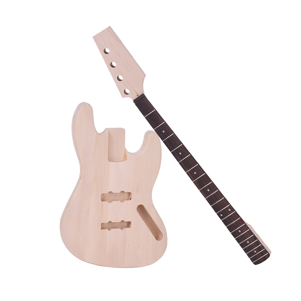 Bass Style 4-string Electric Bass Solid Basswood Body Maple Neck Rosewood Fingerboard Diy Kit Set Top Class Material Stringed Instruments Guitar