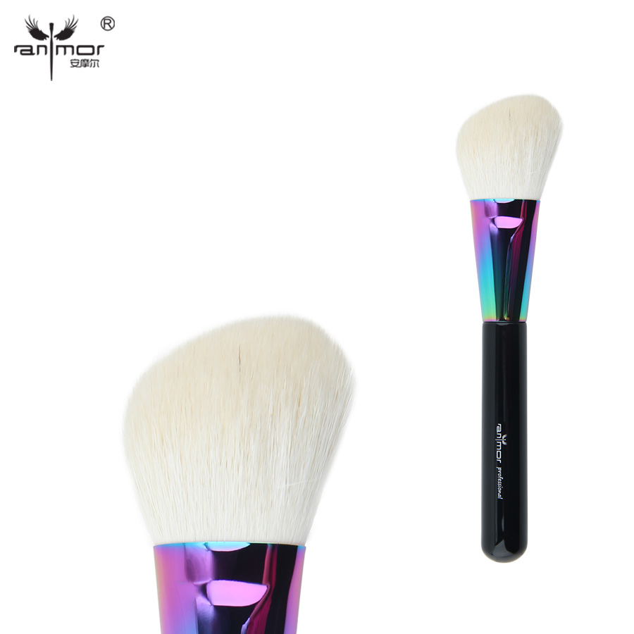 Anmor Goat Hair Angled Contour Face Brush High Quality Blush Makeup Brushes for Daily or Professional Make Up CFCB-B02 professional premium goat hair angled blush brush