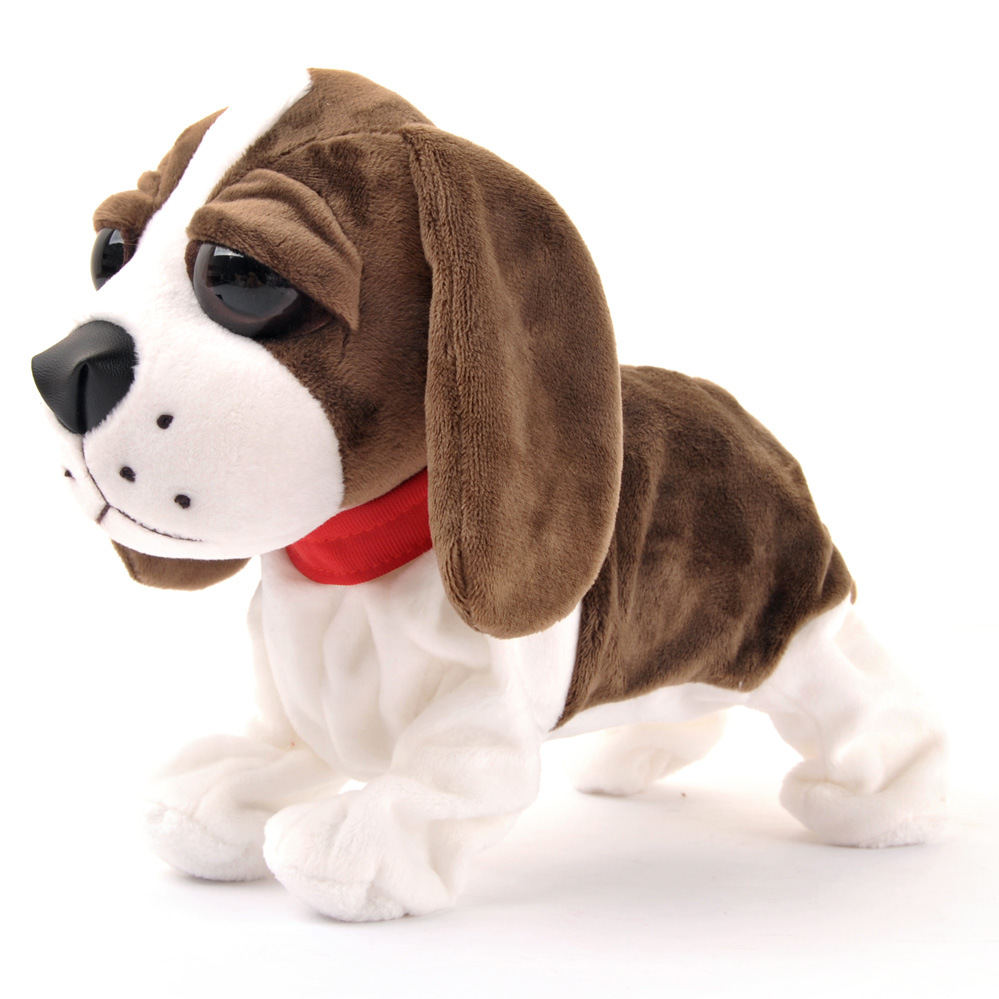 DROPSHIPPING 30cm Sound Control Interactive Dog Electronic Walking Puppy Dog with Voice control Smart Pet can Walk and Bark