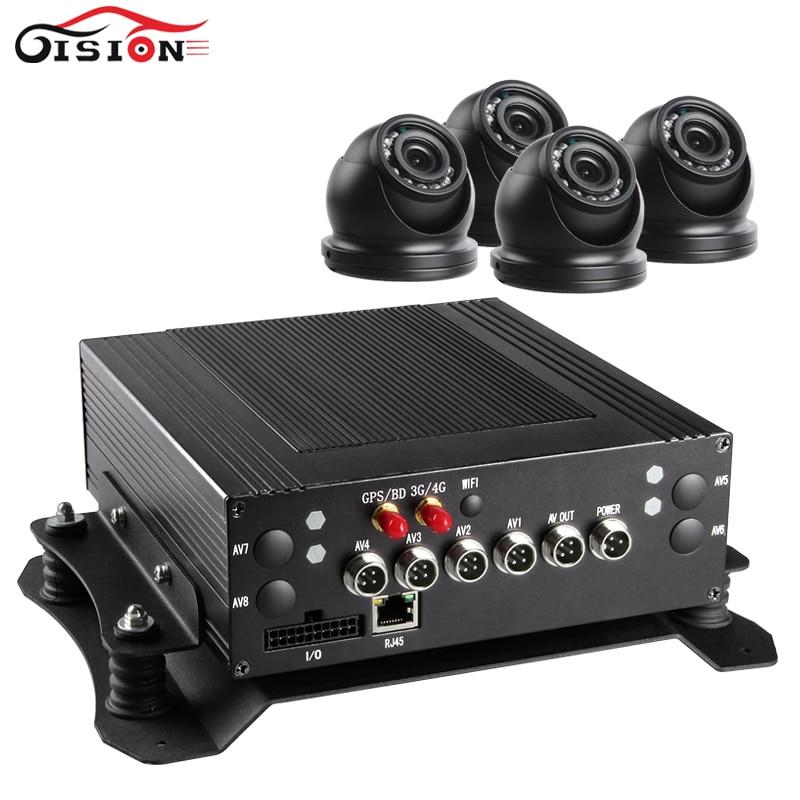 Полный D1 HDD Автомобильный видеорегистратор с 3G GPS Функция Поддержка 4 шт. мини Водонепроницаемый camra, PC/телефон видео в реальном времени MDVR пл…