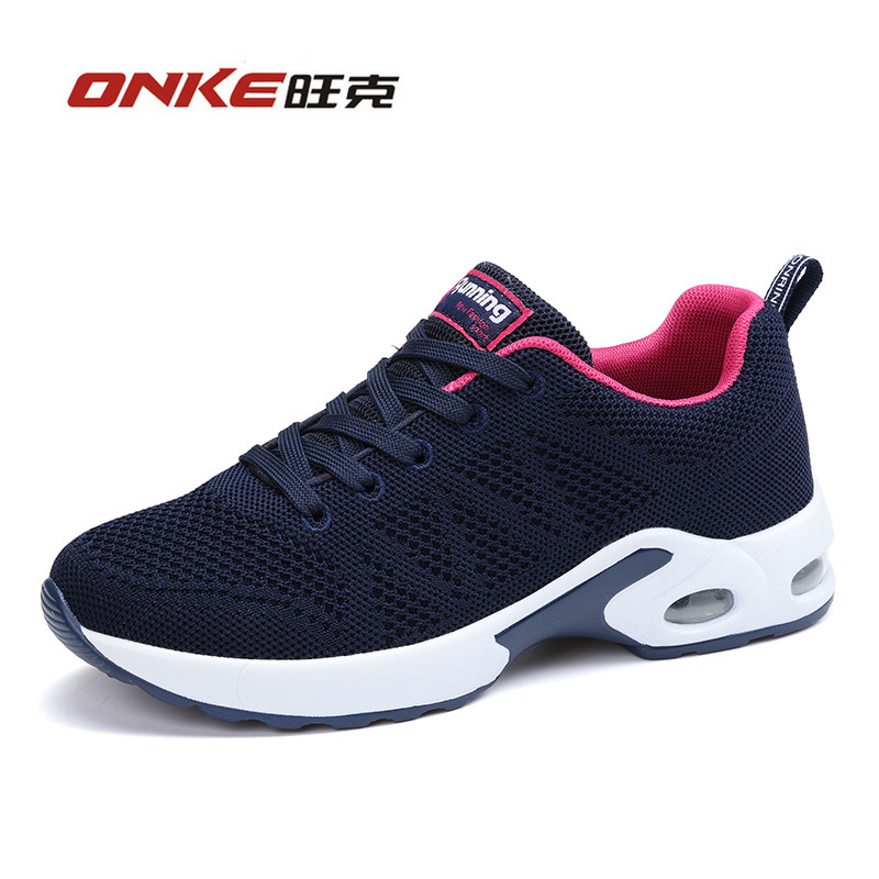 Onke Women Shoes 2017 Breathable Women Running Shoes Woman Flywire Sneakers Air-cushion Airsole Zapatillas Deportivas Mujer bmai running shoes for men breathable zapatillas deportivas hombre mujer running athletic outdoor sport shoes sneakers woman