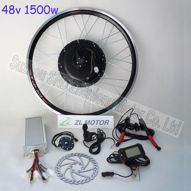 Bicycle conversion kit 1500w 48V brushless dc motor/ powerful controller direct motor manufacturer G-S019  -  Suzhou SND Zhenlong Motor Co. Ltd store