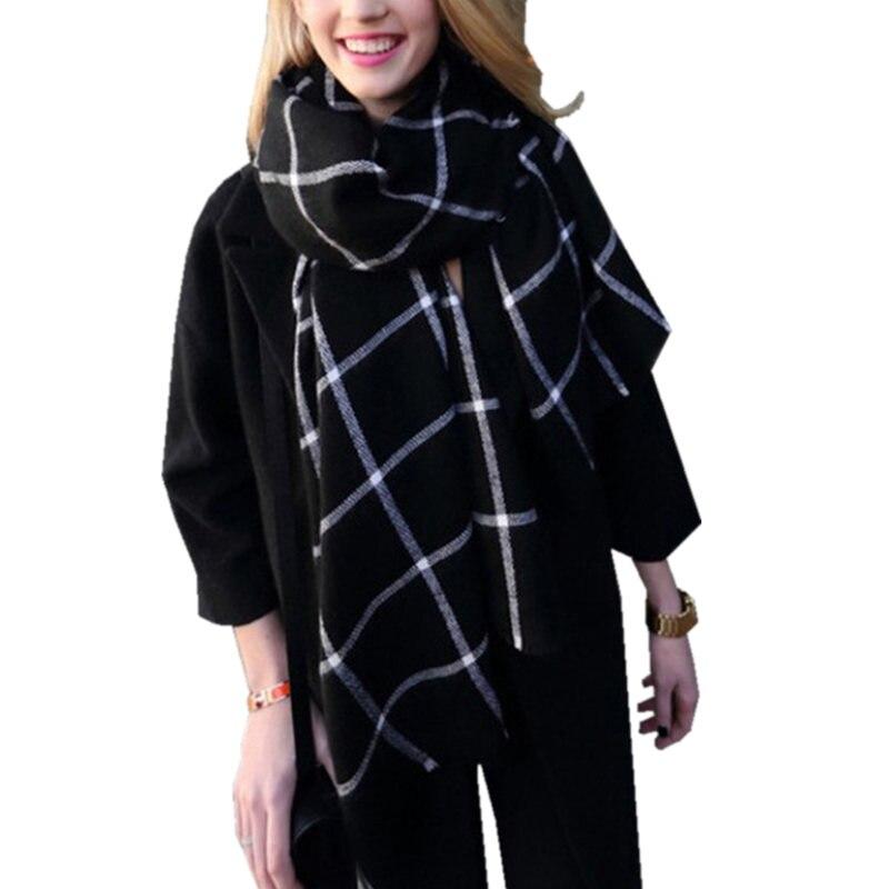 New Fashion Winter Scarf Women Plaid font b Tartan b font Wraps Luxury Brand Womens Scarves