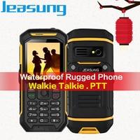 Russian Keyboard Jeasung X6 big battery phone Rugged Waterproof cell phones Big Torch, Walkie Talkie Function,ip67