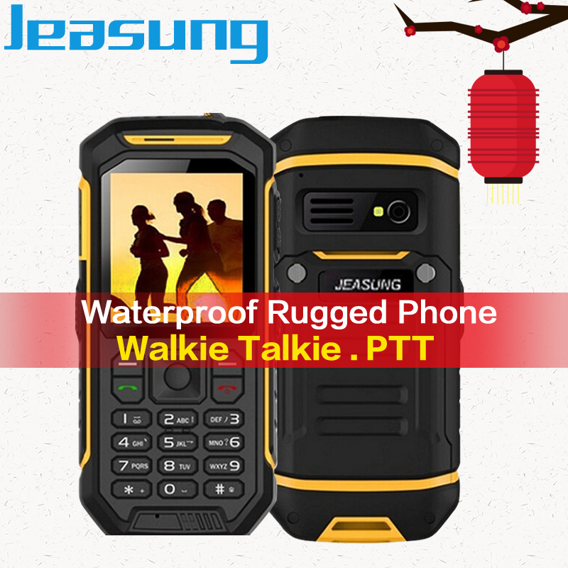 Teclado ruso Jeasung X6 grande del teléfono de la batería resistente impermeable de los teléfonos celulares de antorcha Walkie Talkie función ip67