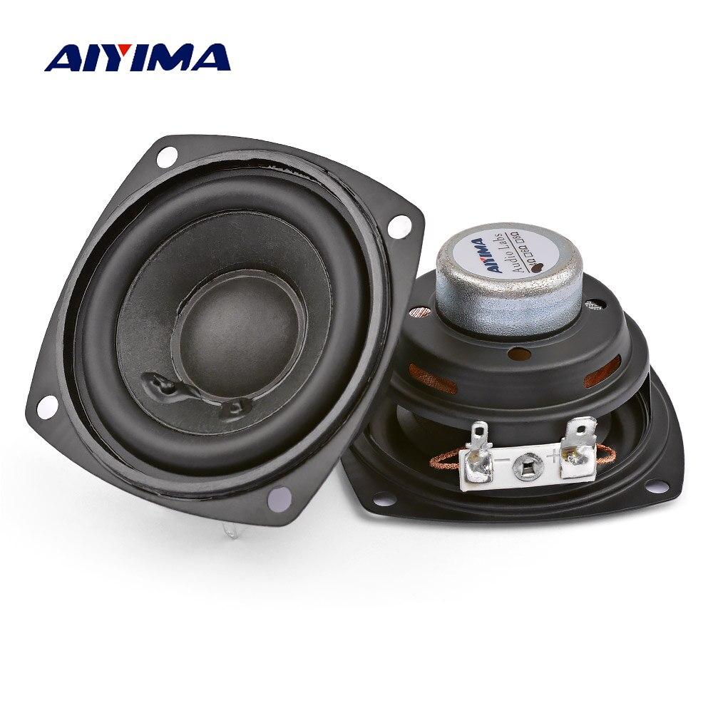 Aiyima 2 pçs 2.5 Polegada alto-falantes portáteis 4ohm 10 w 66mm gama completa alto-falante de áudio baixo multimídia neodímio ímã altifalante
