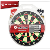 Winmax Dart Accessories 12/15/17 inch Paper Target Game Dartboard with 4/6*8G darts for Free