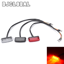 12V Motorcycle Rear Brake LED Tail Stop Light Lamp For Dirt Taillight License Plate Accessories Decorative Emark