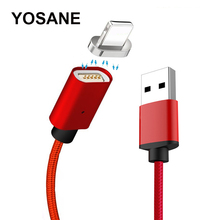 1M Magnetic Cable For iPhone X 8 7 Plus Fast Charging Data Wire 2.4A USB Cable For iPhone 6 6S 5 5S 5C ipad Magnet Charger Cord цена