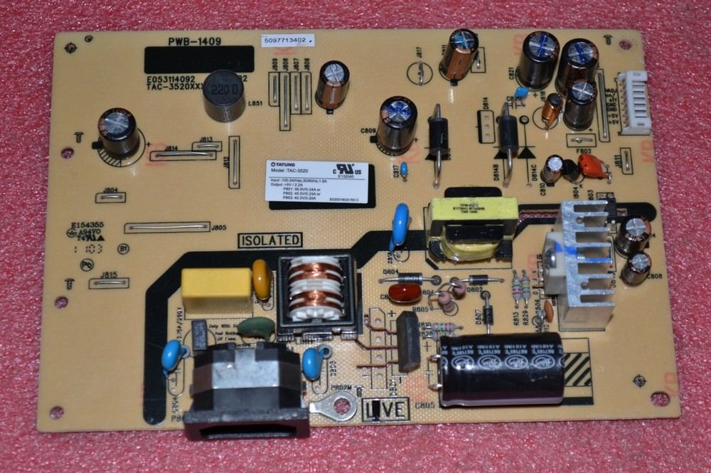 Free Shipping> VA1931 Series VA1931WA Power Board VA1931 LED power supply board PWB-1409-Original 100% Tested Working pwb 1389 pwb 1389 1a 2311f good working tested