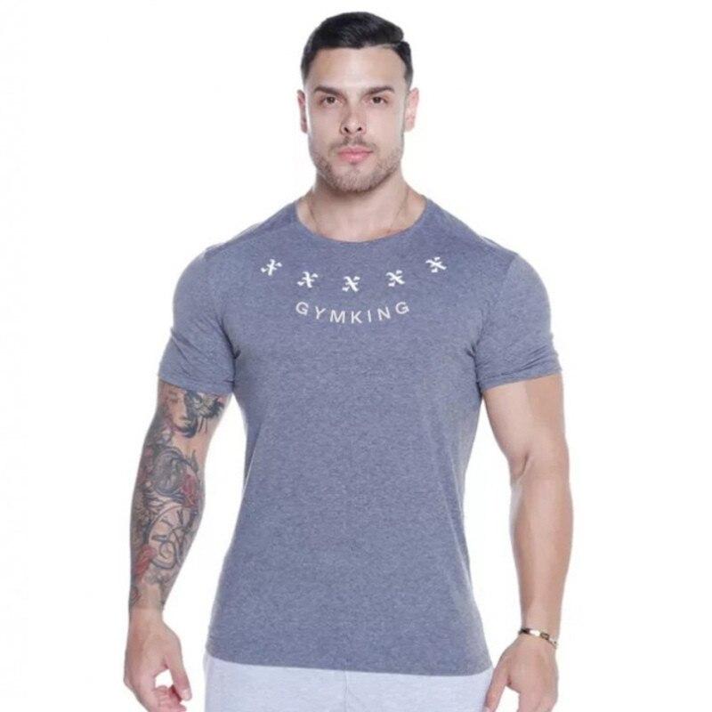 2019 New Summer gym T-shirt large-type brand T-shirt Man shirt Bodybuilding Fitness quick-drying Short Sleeve Running T-shirt 2